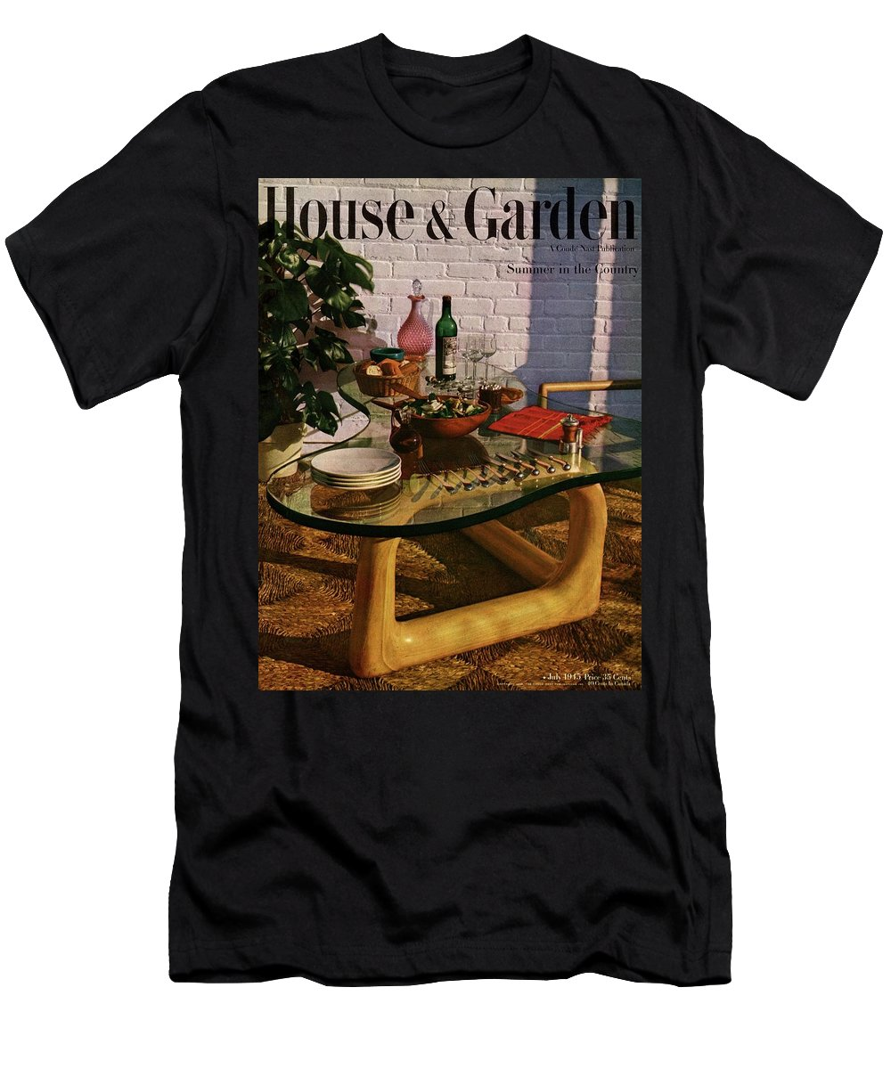 House And Garden T-Shirt featuring the photograph House And Garden Cover Featuring Brunch by John Rawlings