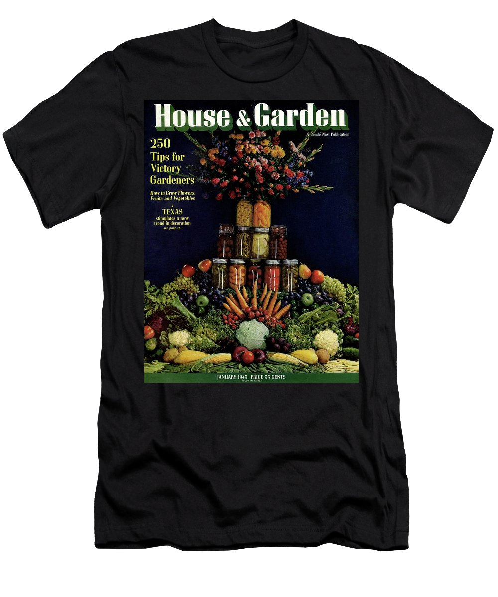 House And Garden Men's T-Shirt (Athletic Fit) featuring the photograph House And Garden Cover Featuring Fruit by Fredrich Baker