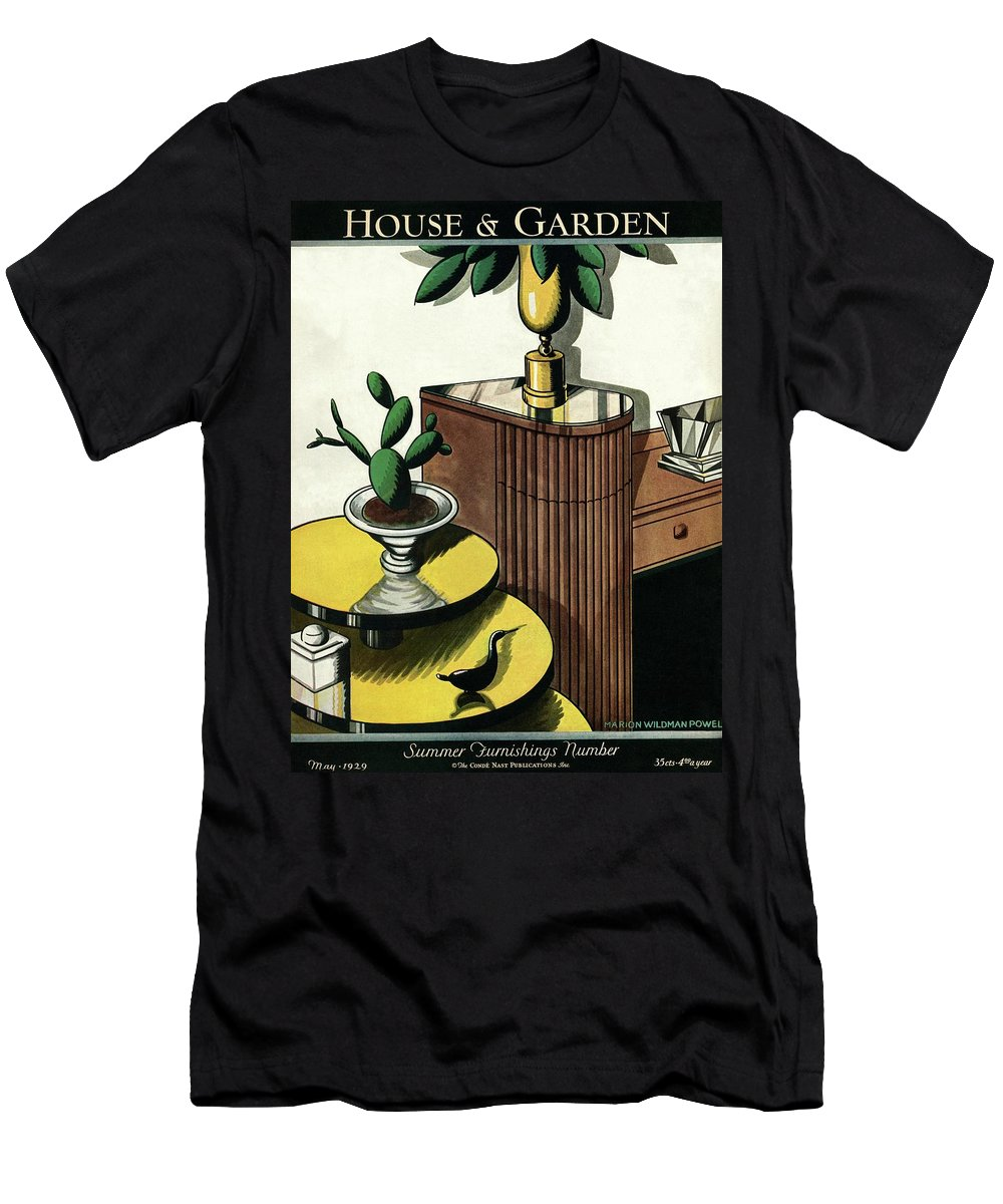 House And Garden T-Shirt featuring the photograph House And Garden Household Equipment Number Cover by Marion Wildman