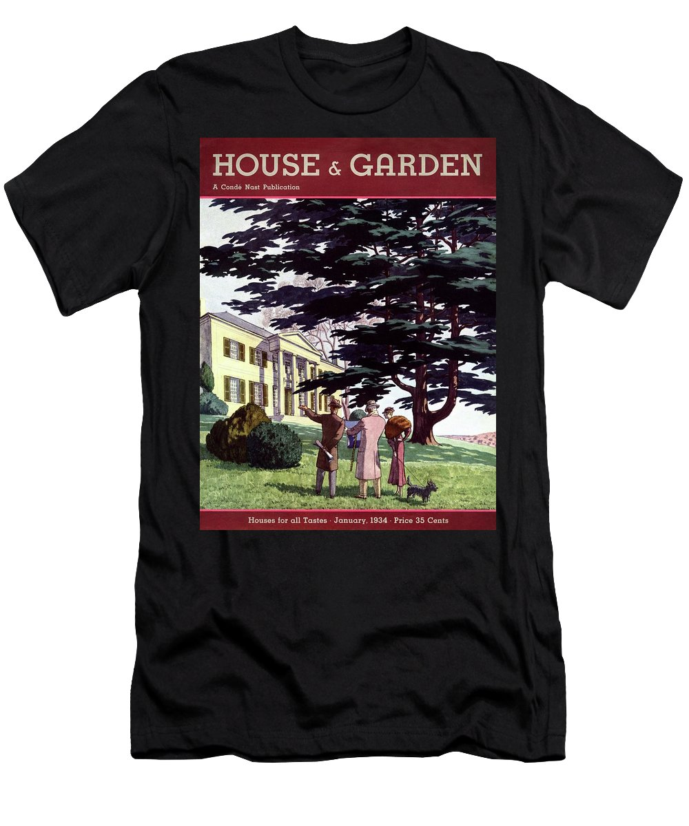 House And Garden Men's T-Shirt (Athletic Fit) featuring the photograph House And Garden Houses For All Tastes Cover by Pierre Brissaud