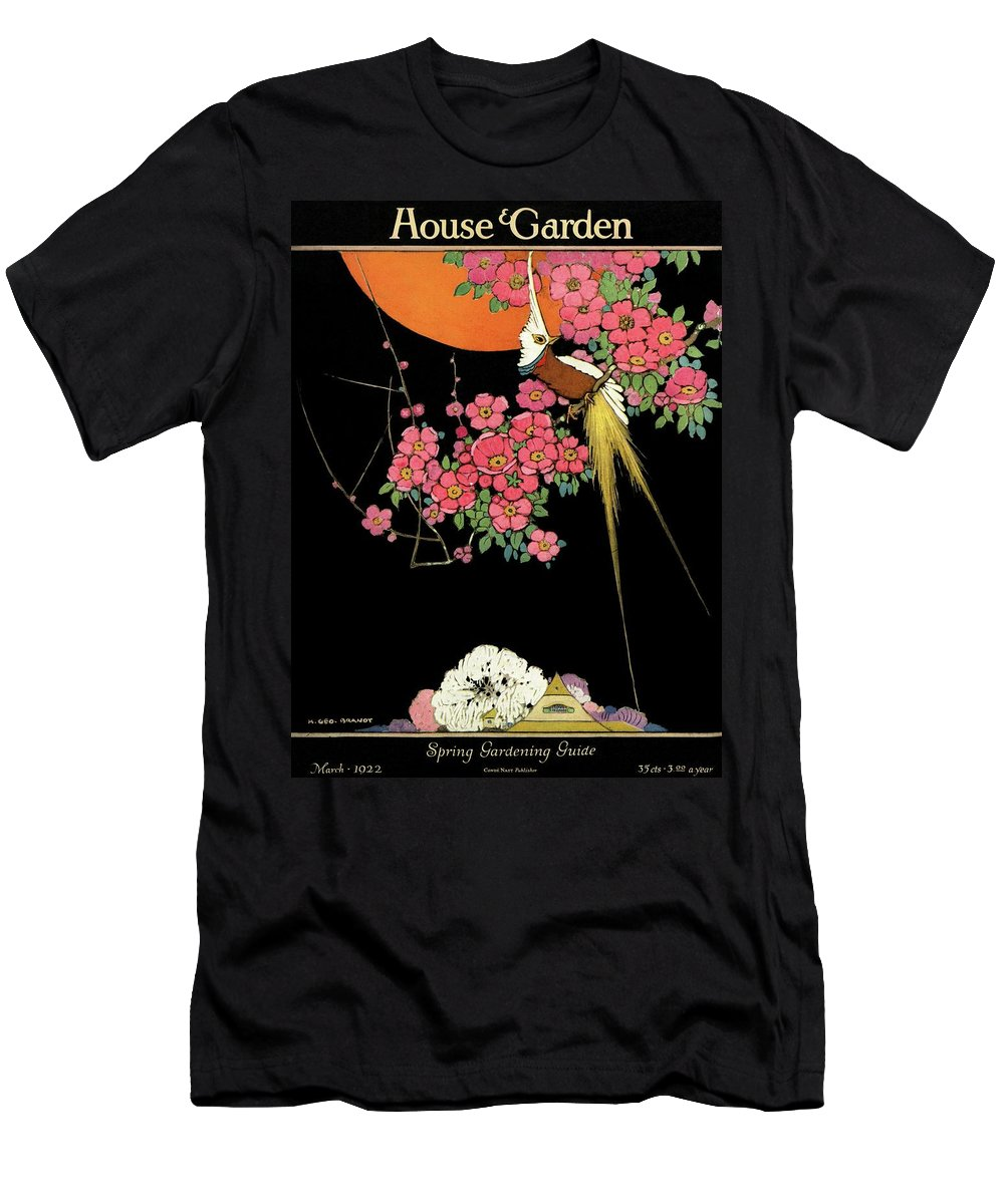House And Garden T-Shirt featuring the photograph House And Garden Spring Gardening Guide by H. George Brandt