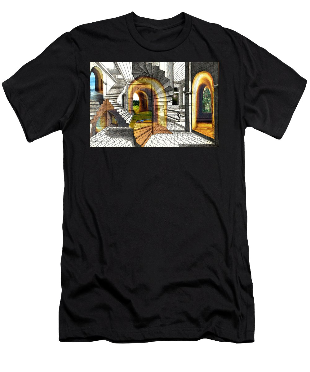 House T-Shirt featuring the digital art House of Dreams by Lisa Yount