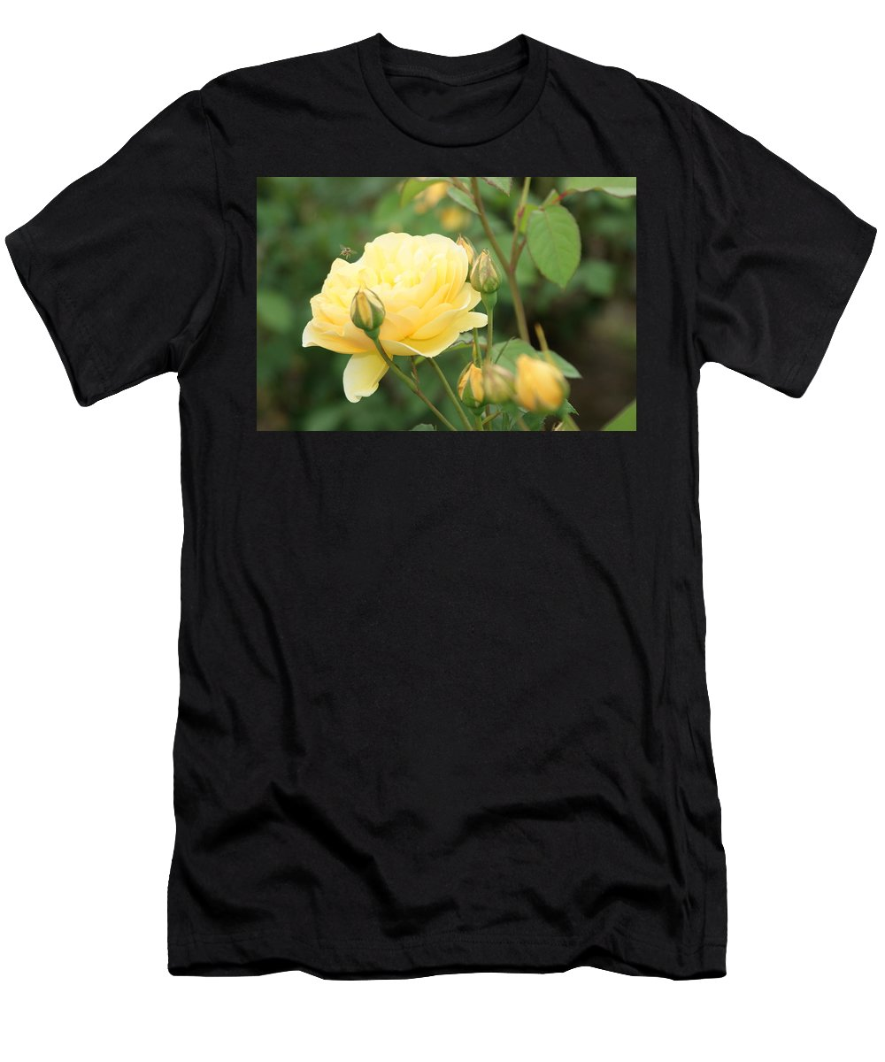 Yellow Men's T-Shirt (Athletic Fit) featuring the photograph Hover Time...  # by Rob Luzier