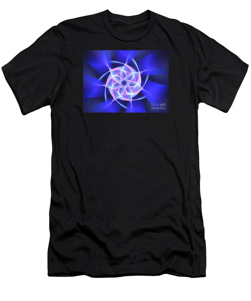 Apophysis Men's T-Shirt (Athletic Fit) featuring the digital art Hydros by Kim Sy Ok