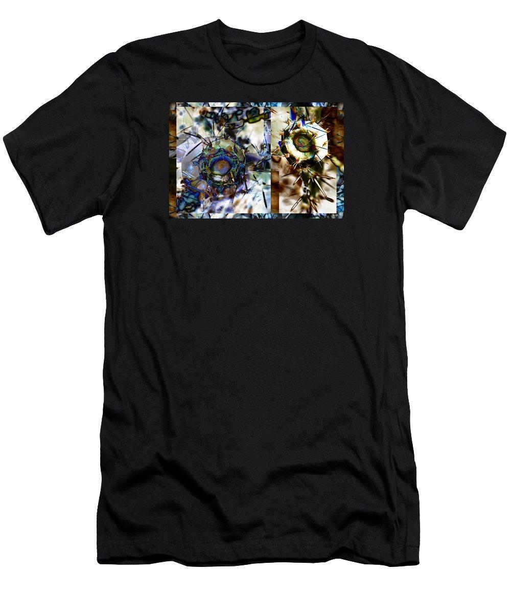 Desert Men's T-Shirt (Athletic Fit) featuring the digital art We Are Mans Force Opposite His/her Own Violence And Mans Freedom Opposite His/her Own...- Winter 5 by Arthur BRADford Klemmer