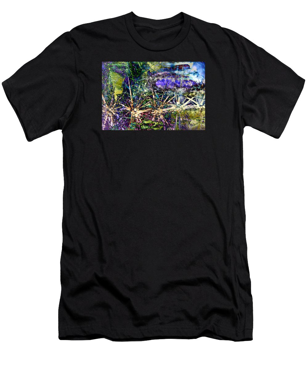 Desert Men's T-Shirt (Athletic Fit) featuring the digital art We Are Nonphysical Spiritual Energy, Each Part Of The Unity Of Total Divine Consciousness- Winter 3 by Arthur BRADford Klemmer
