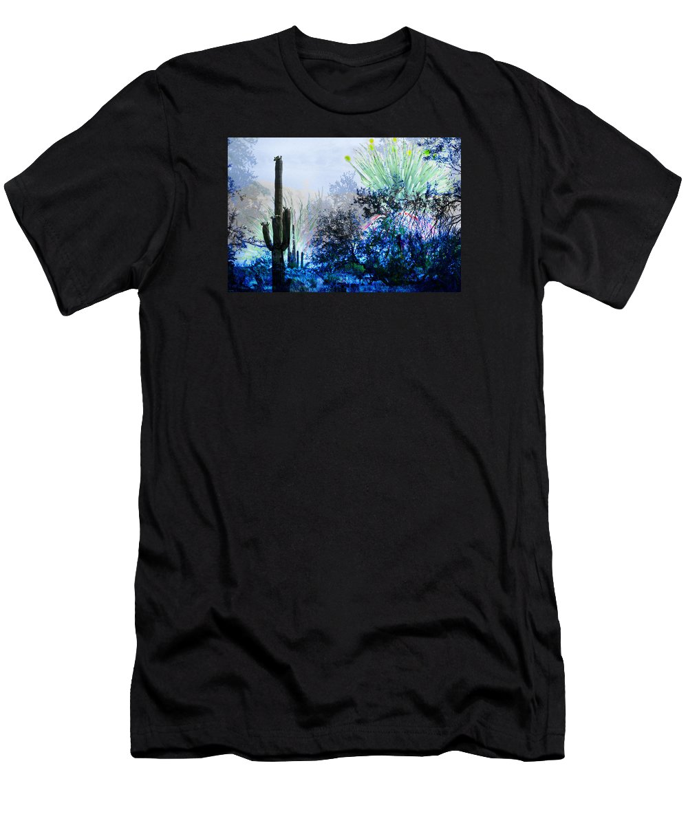 Desert Men's T-Shirt (Athletic Fit) featuring the digital art I Am.. The Arizona Dreams Of A Snow Covered Christmas, Regardless Of Our Interpretation Of- Winter 1 by Arthur BRADford Klemmer