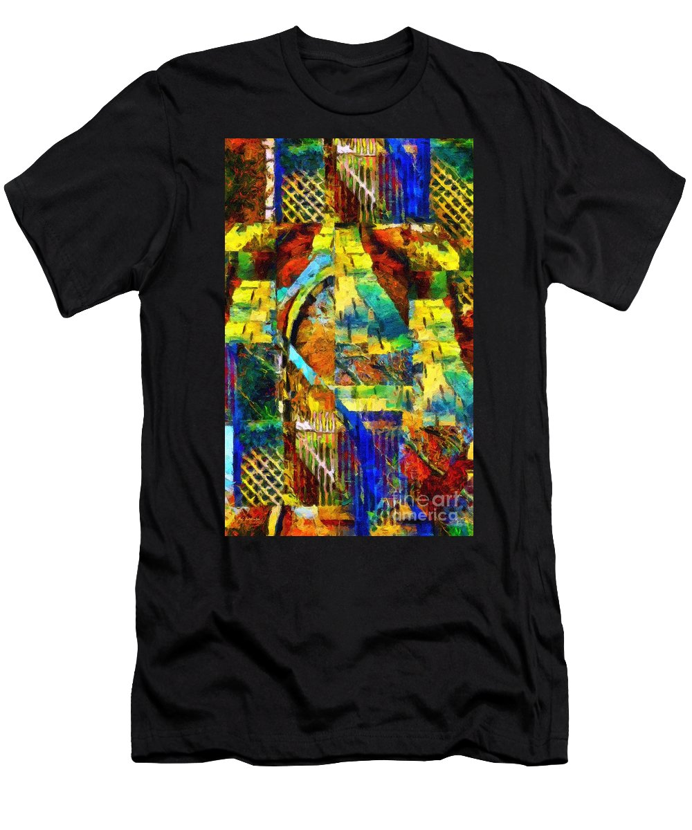 Abstract Men's T-Shirt (Athletic Fit) featuring the painting I Can't Find My Way Home by RC DeWinter
