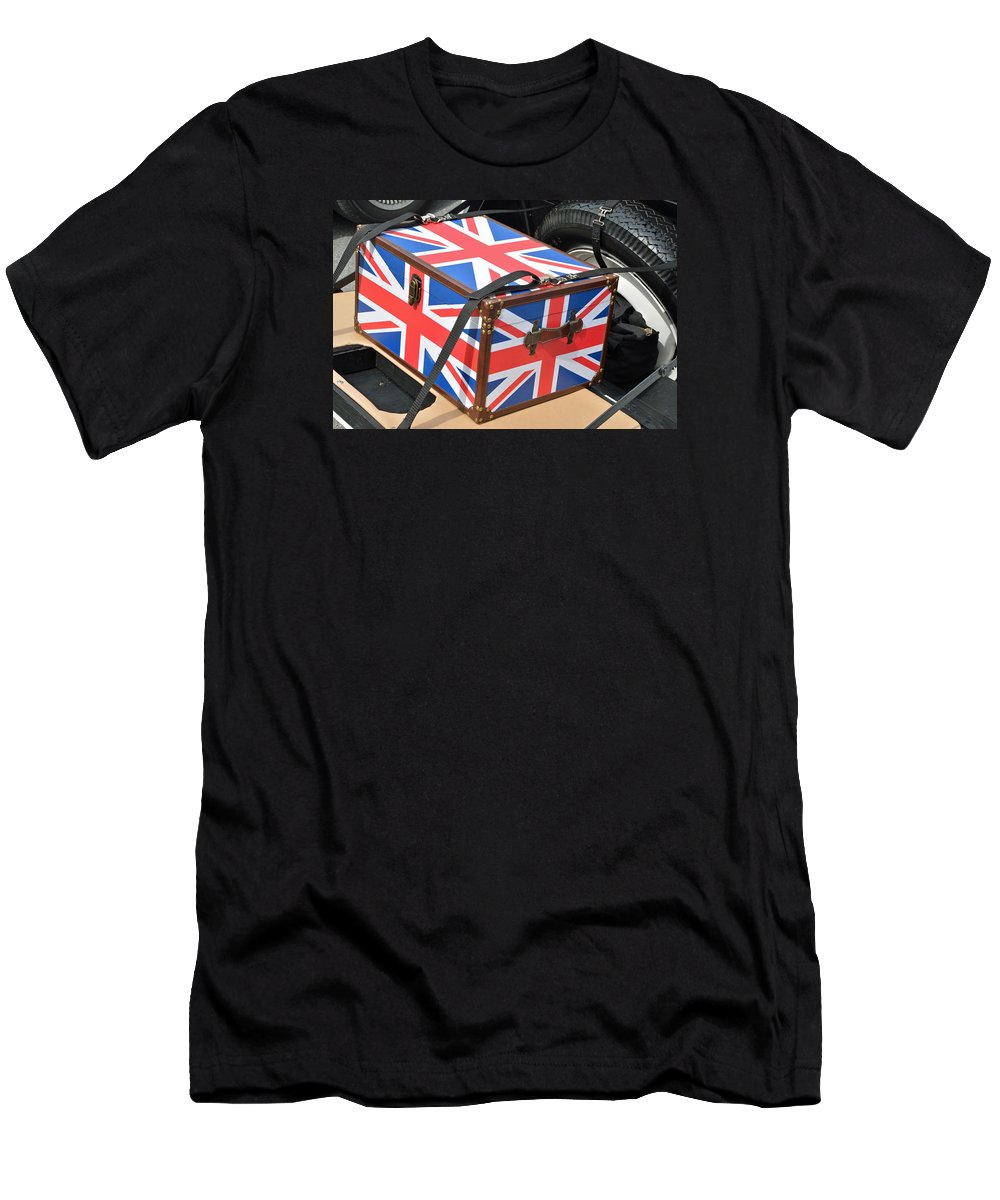 Britain Men's T-Shirt (Athletic Fit) featuring the photograph I Come With Some Baggage by John Schneider