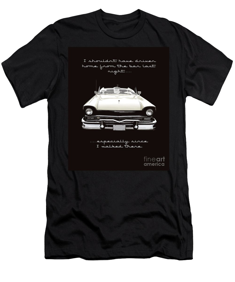 Ford Men's T-Shirt (Athletic Fit) featuring the photograph I Should Not Have Driven Home From The Bar by Edward Fielding