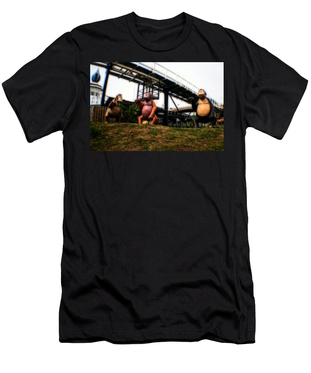 Abstract Men's T-Shirt (Athletic Fit) featuring the photograph I Want To Be Like You Hoo Hoo by Doc Braham