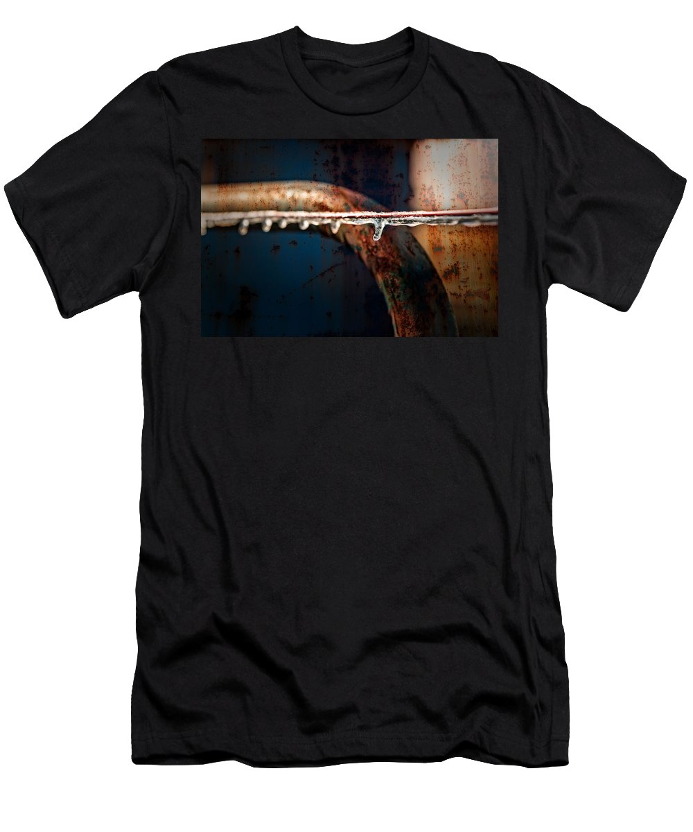 Adams Men's T-Shirt (Athletic Fit) featuring the photograph Ice And Rust by Brett Engle