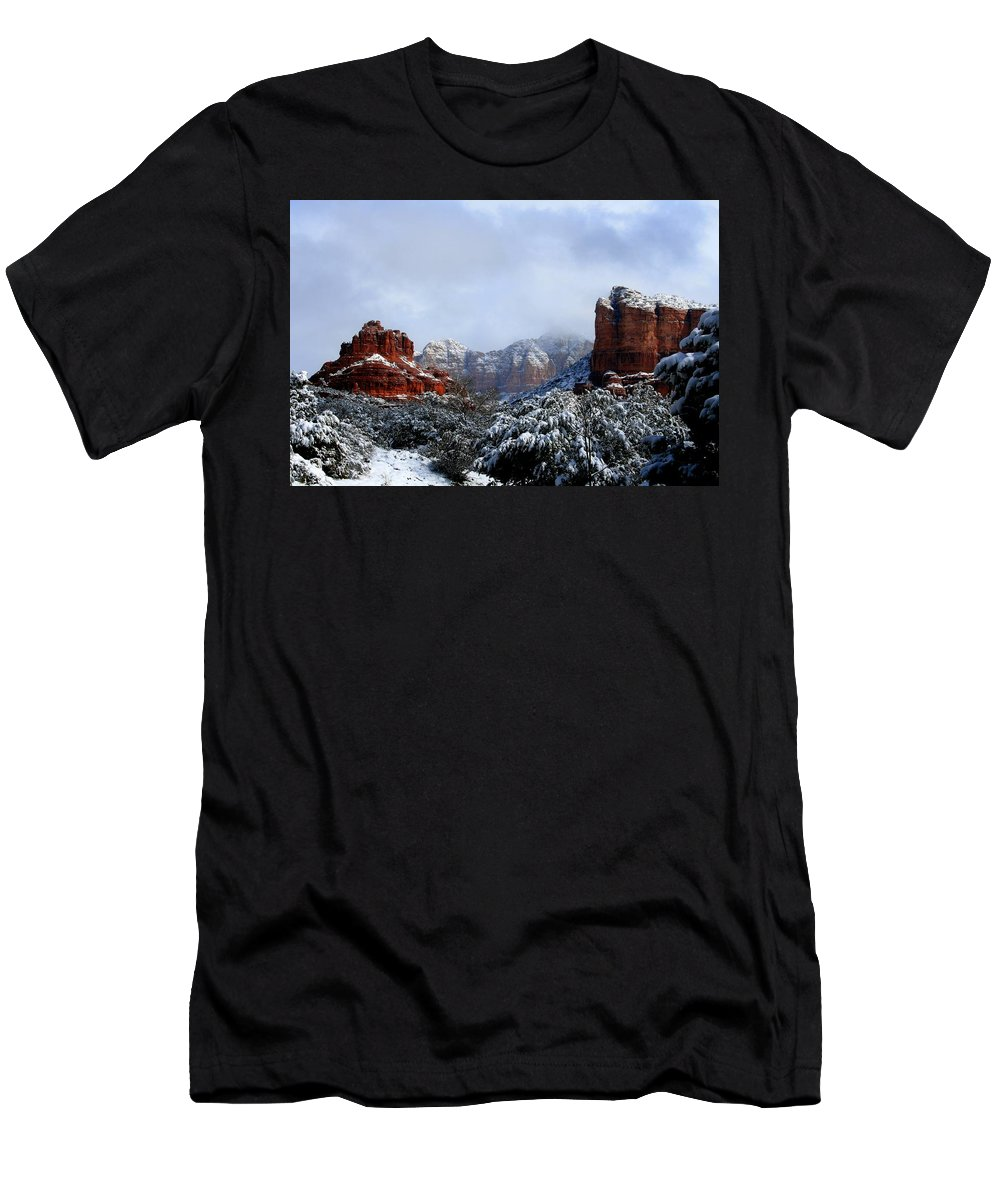 Arizona Men's T-Shirt (Athletic Fit) featuring the photograph Ice Castles by Miles Stites