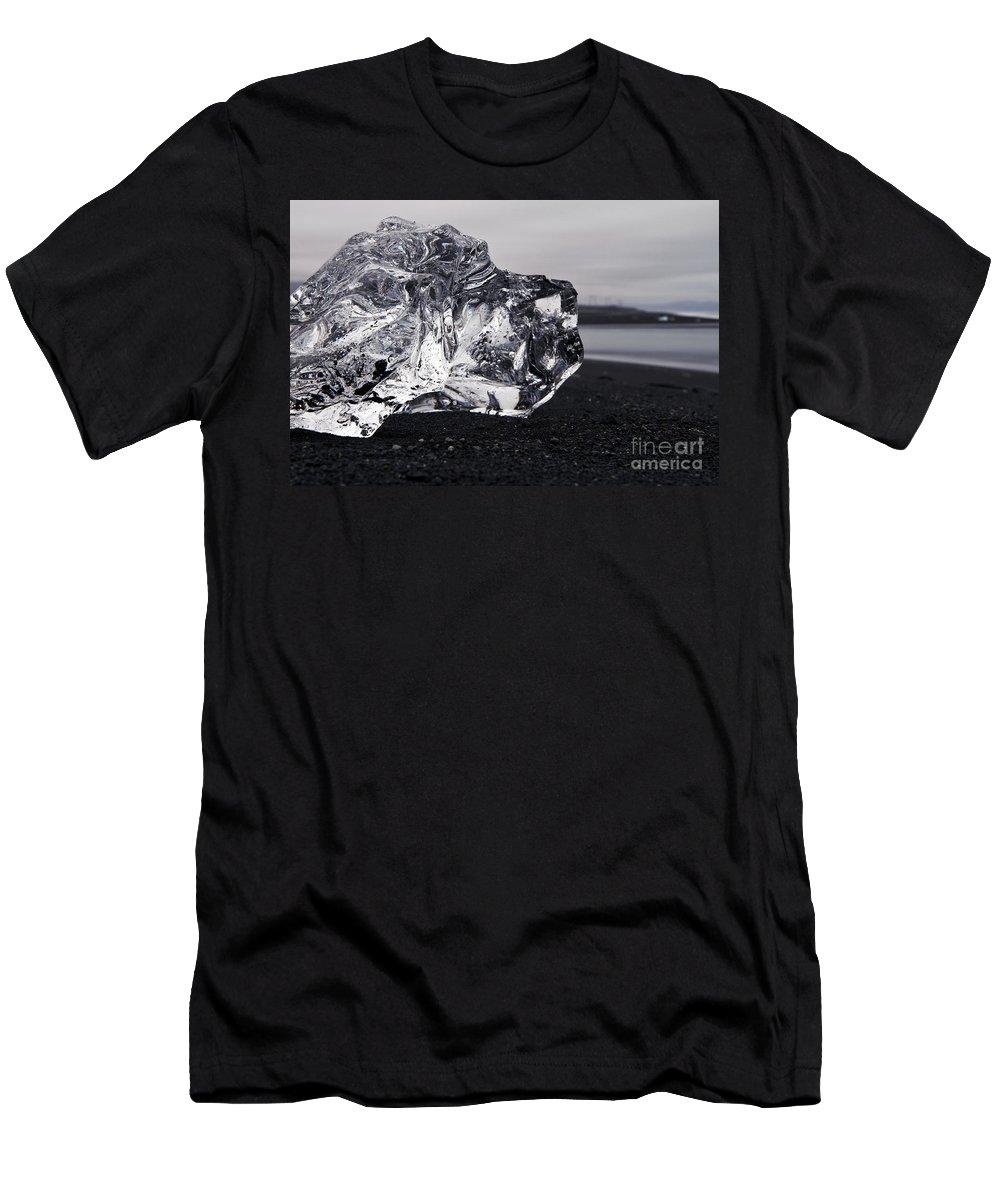Jokulsarlon Men's T-Shirt (Athletic Fit) featuring the photograph ice by Gunnar Orn Arnason