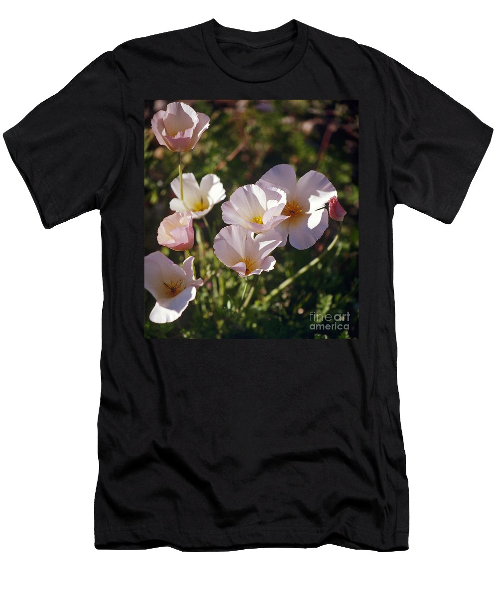 Flowers Men's T-Shirt (Athletic Fit) featuring the photograph Icelandic Poppies by Kathy McClure