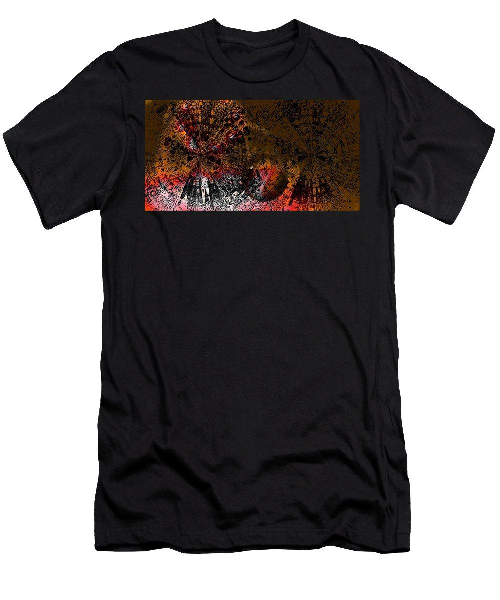 Digital Art Men's T-Shirt (Athletic Fit) featuring the digital art Icons by Amanda Moore