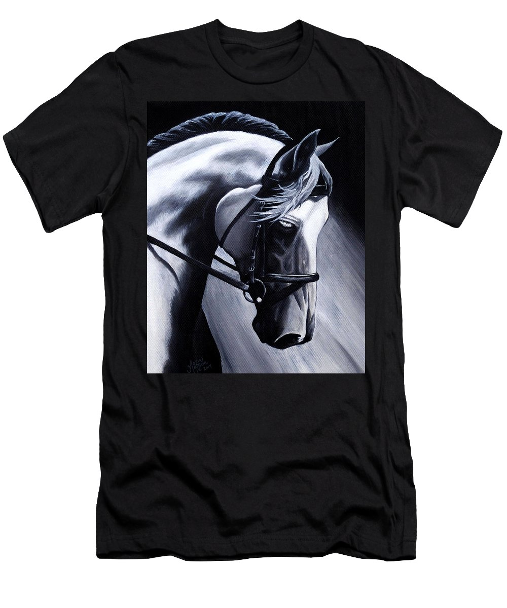 Horse Men's T-Shirt (Athletic Fit) featuring the painting Illuminate by Monique Morin Matson