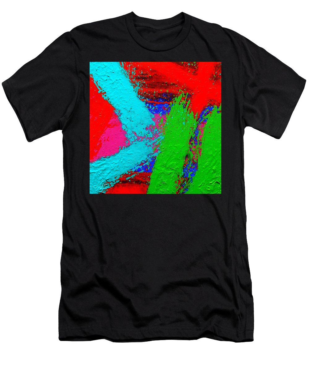 Abstract Men's T-Shirt (Athletic Fit) featuring the painting Imma   Ix by John Nolan