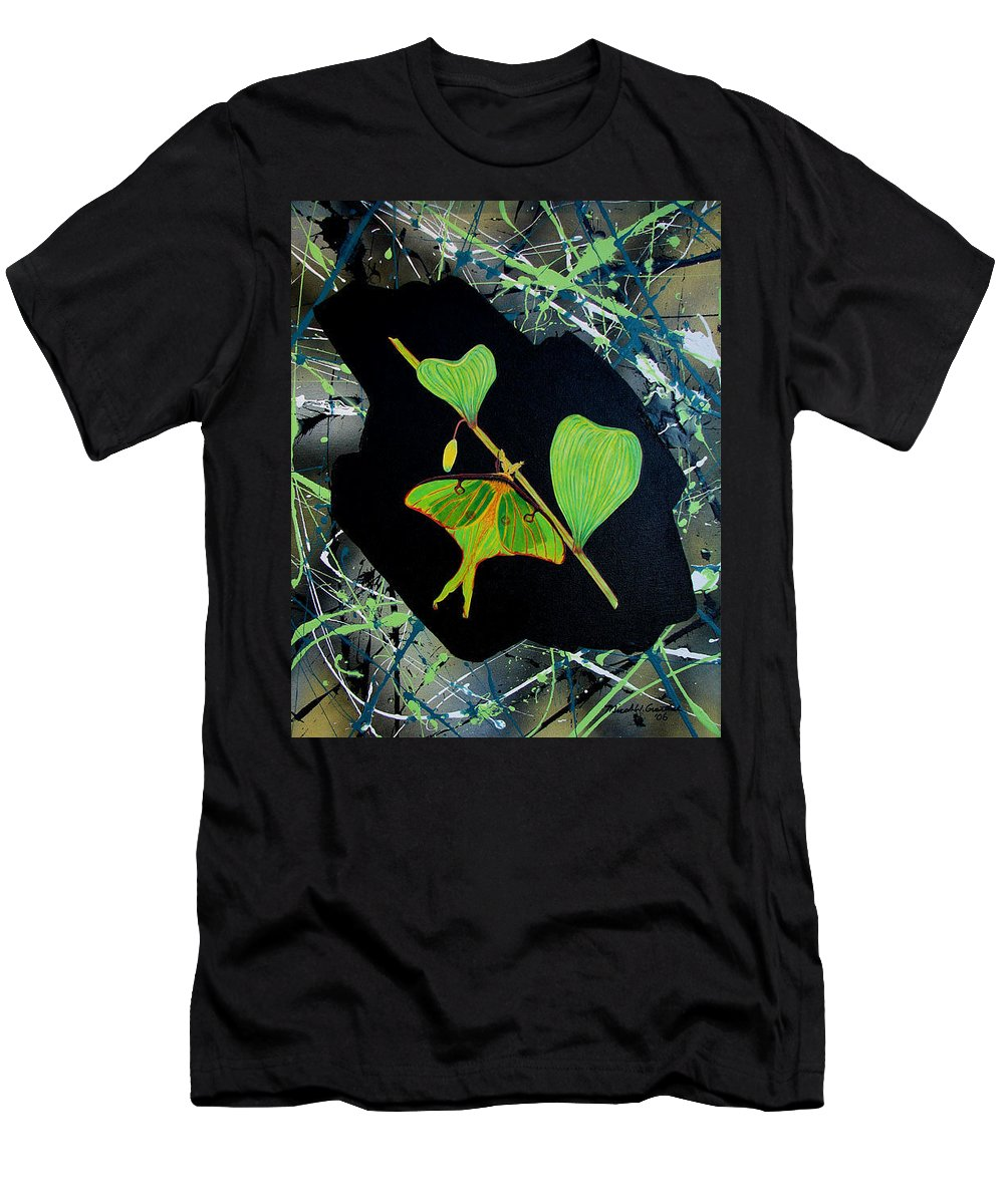 Abstract Men's T-Shirt (Athletic Fit) featuring the painting Imperfect IIi by Micah Guenther