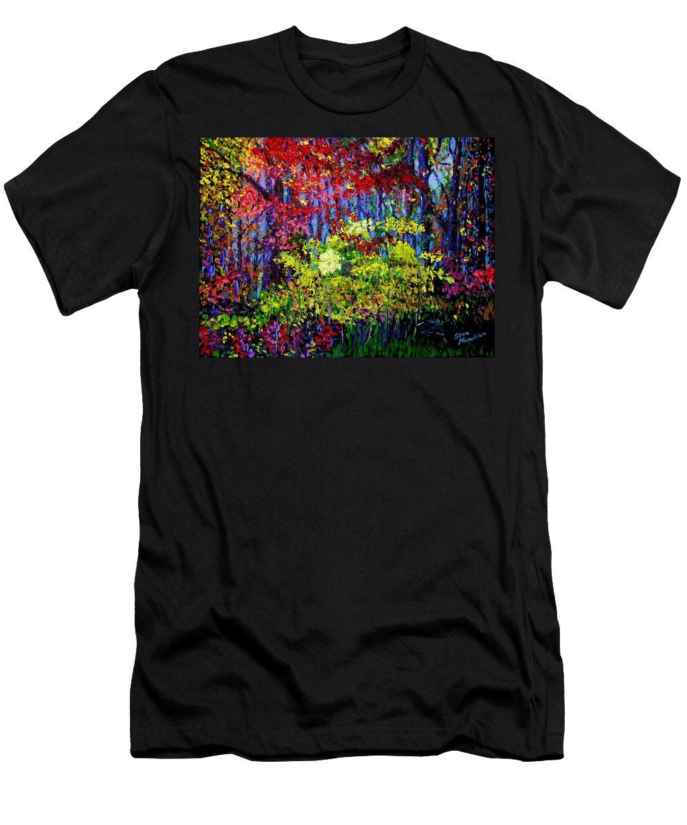 Impressionism Men's T-Shirt (Athletic Fit) featuring the painting Impressionism 1 by Stan Hamilton