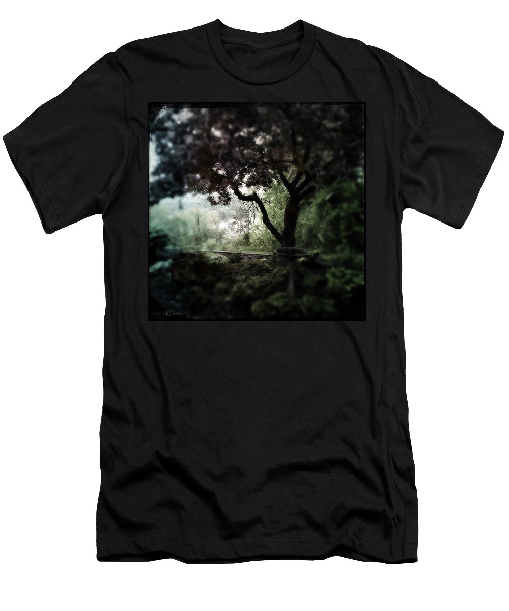 Garden Men's T-Shirt (Athletic Fit) featuring the photograph In And Out Of The Garden by Tim Nyberg