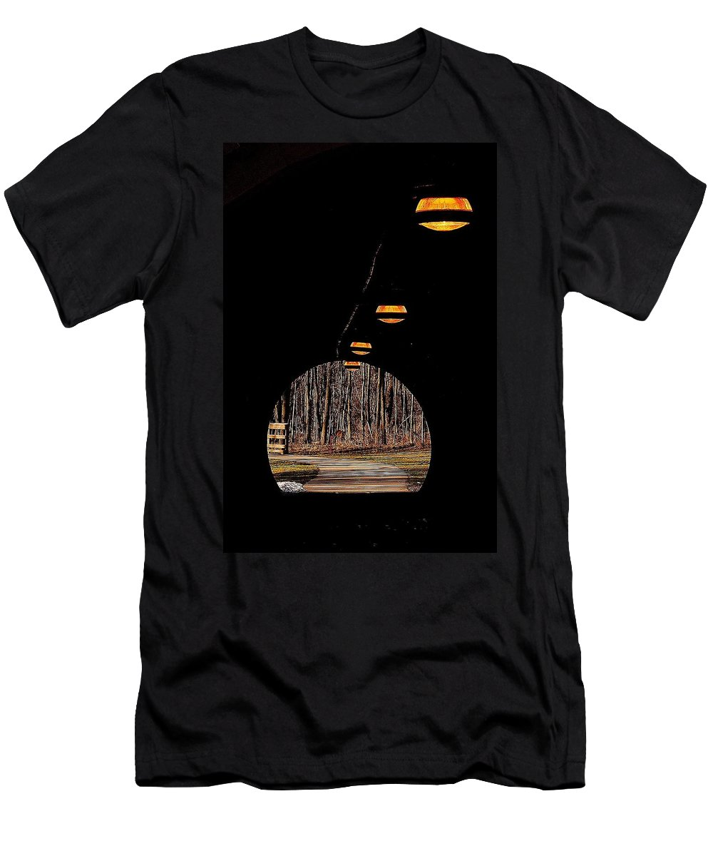 Tunnel Men's T-Shirt (Athletic Fit) featuring the photograph In Deep Thought by Frozen in Time Fine Art Photography
