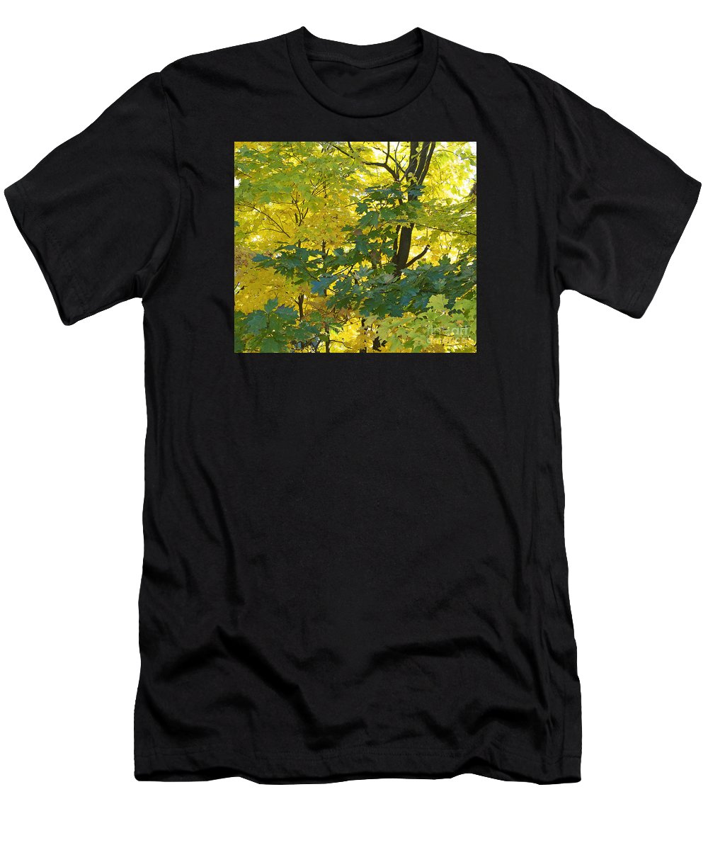 Autumn Men's T-Shirt (Athletic Fit) featuring the photograph In Due Time by Ann Horn