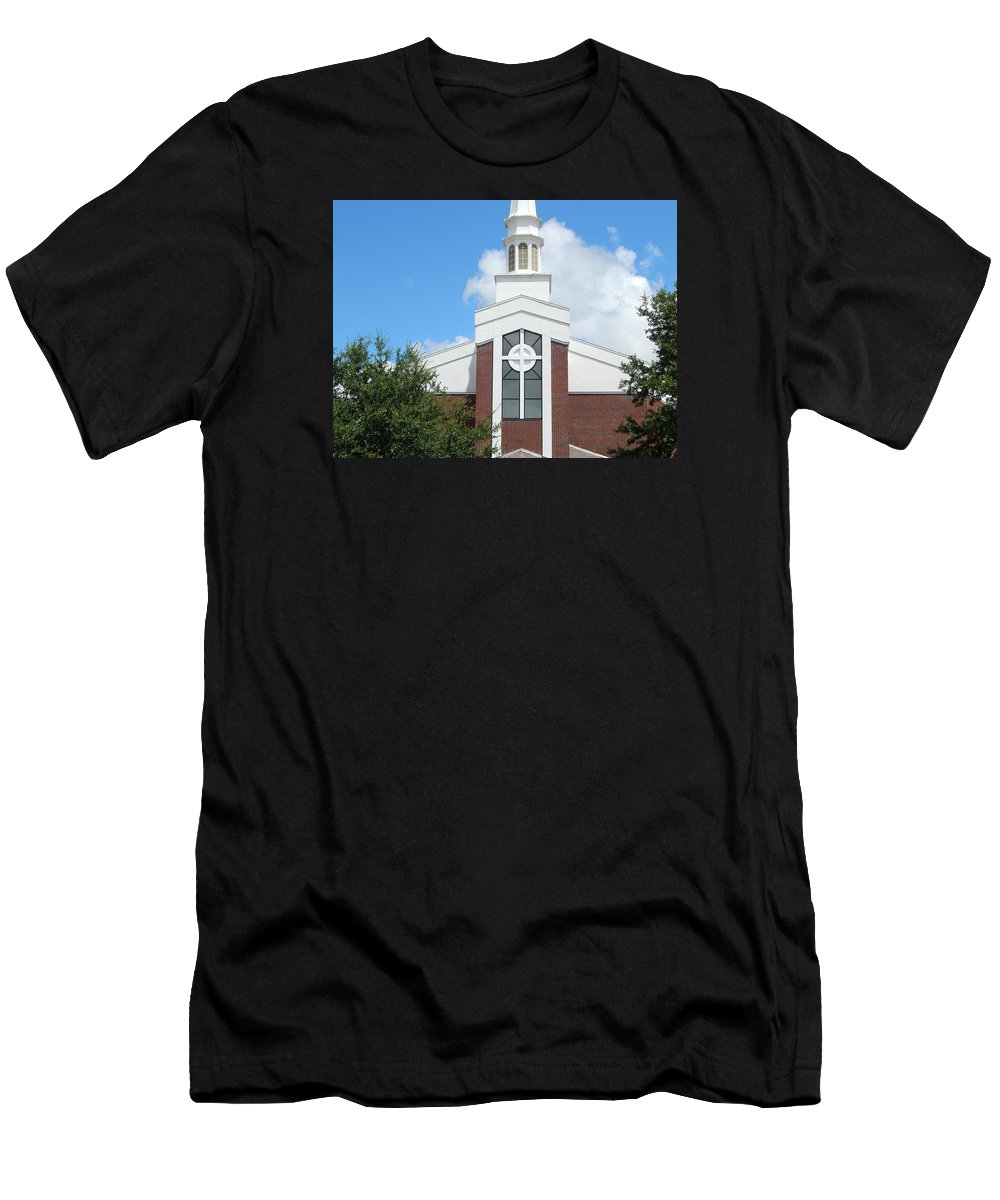 Church. Church Building. God Men's T-Shirt (Athletic Fit) featuring the photograph In God We Trust by Terry Baker