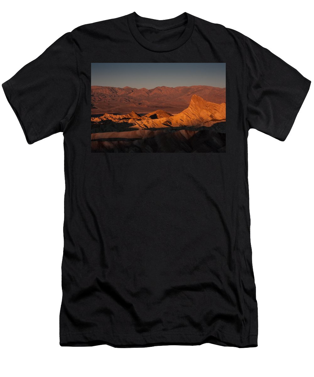Death Valley Men's T-Shirt (Athletic Fit) featuring the photograph In Heat by Dayne Reast