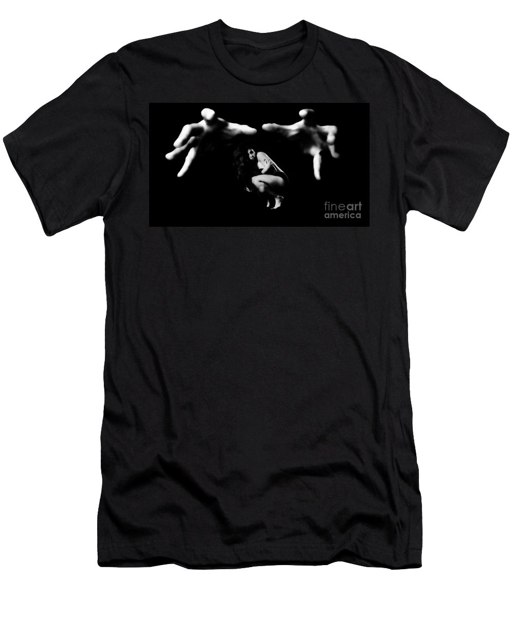 Men's T-Shirt (Athletic Fit) featuring the photograph In His Grasp by Jessica Shelton