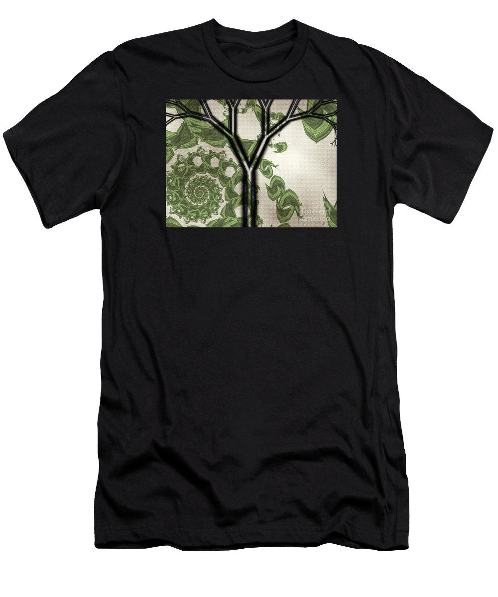 In Like A Lion Men's T-Shirt (Athletic Fit) featuring the digital art In Like A Lion by Kimberly Hansen