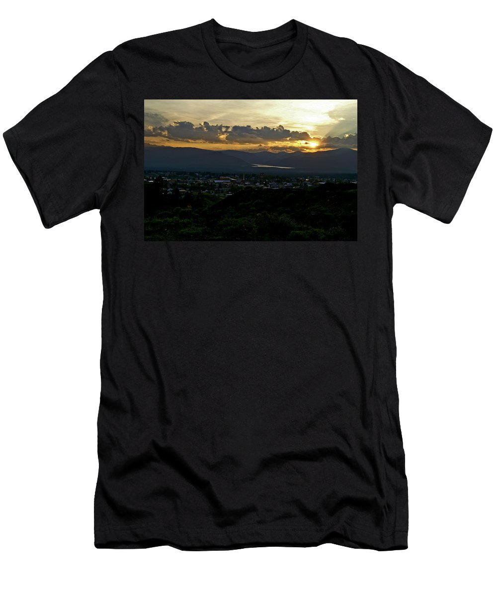 Sunset Men's T-Shirt (Athletic Fit) featuring the photograph In My Place by Jeremy Rhoades