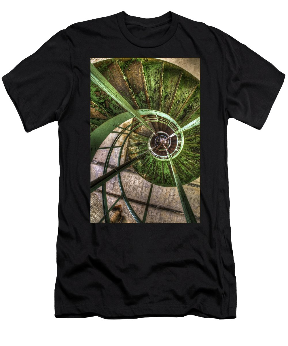 Ubex Men's T-Shirt (Athletic Fit) featuring the digital art In The Eye Of The Spiral by Nathan Wright