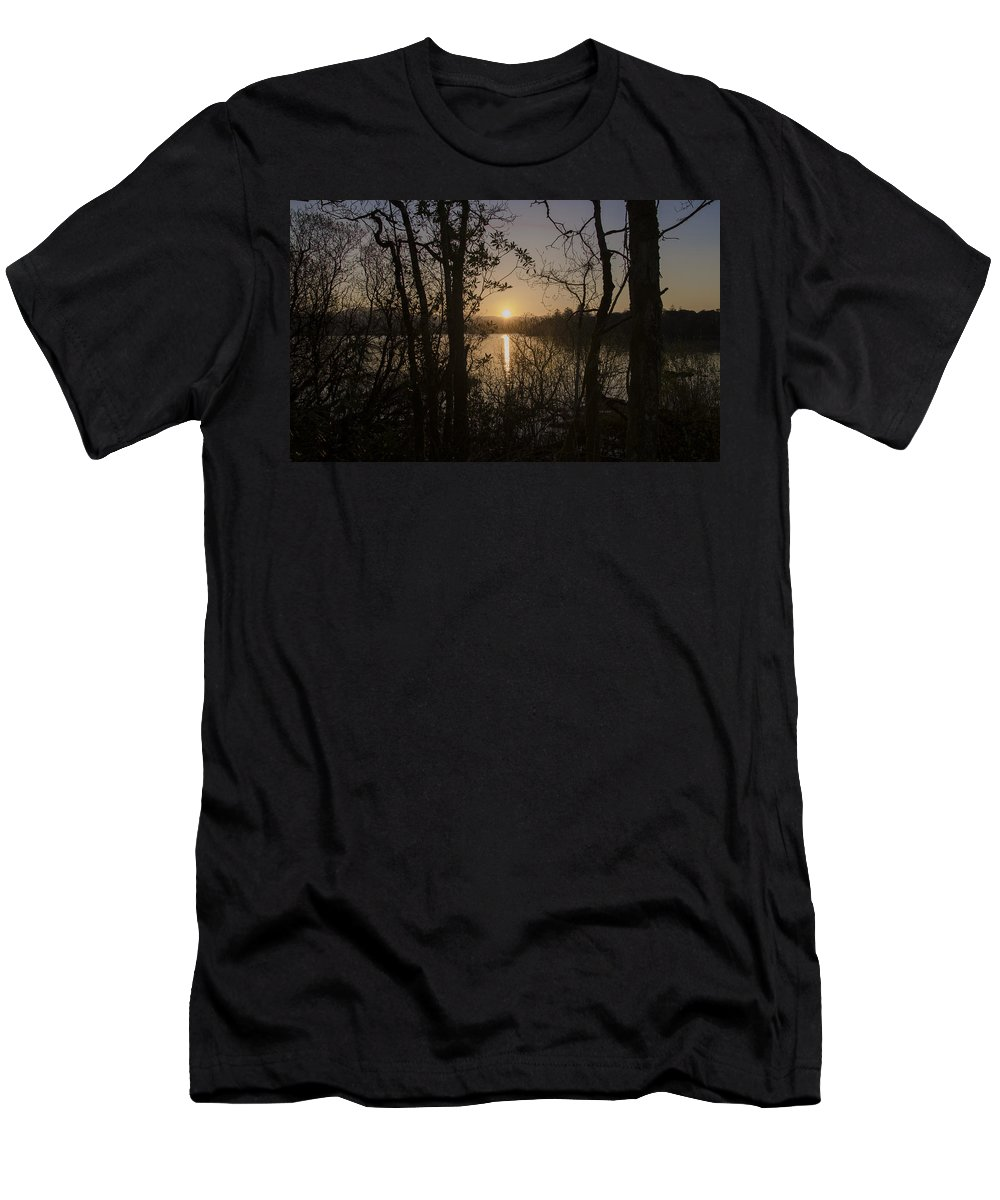 In The Men's T-Shirt (Athletic Fit) featuring the photograph In The Morning At Lough Eske by Bill Cannon
