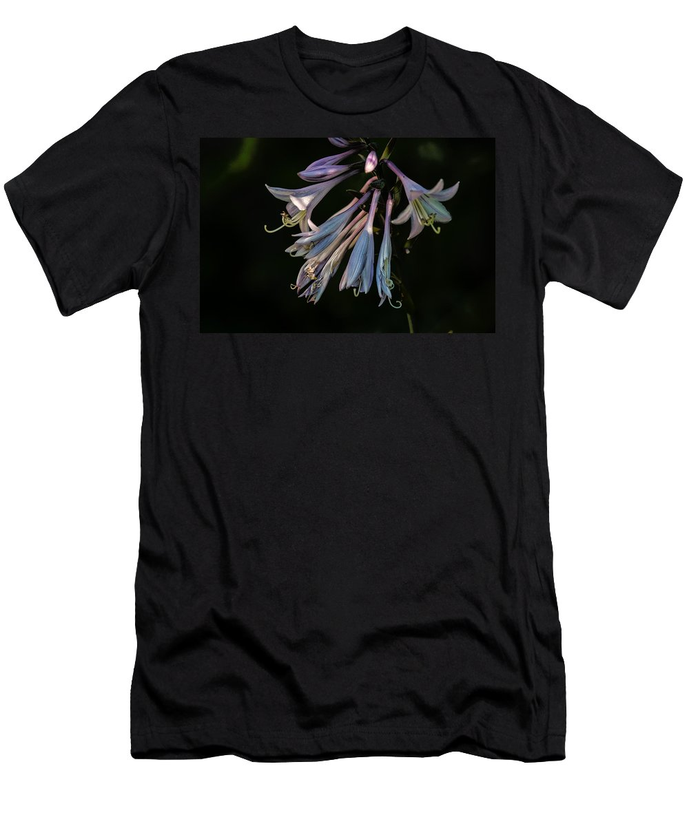 Hosta Men's T-Shirt (Athletic Fit) featuring the photograph In The Shade Garden by Susan Capuano