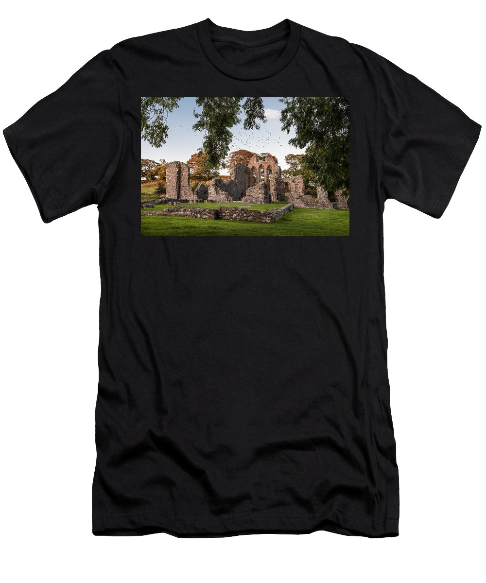 Ireland Men's T-Shirt (Athletic Fit) featuring the photograph Inch Abbey by George Pennock