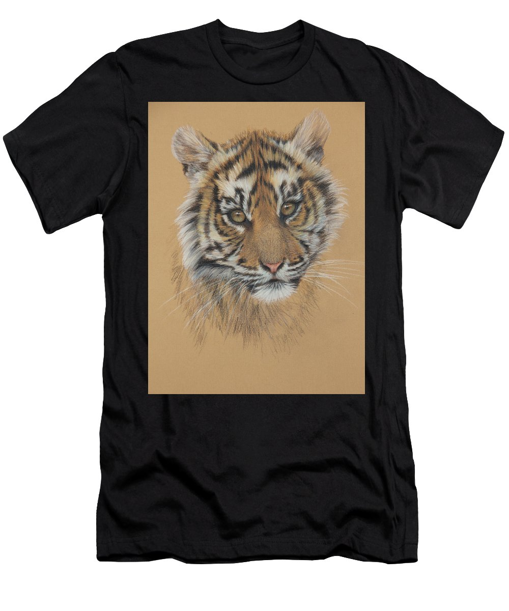Wildlife Men's T-Shirt (Athletic Fit) featuring the drawing Indian Princess by Clare Shaughnessy