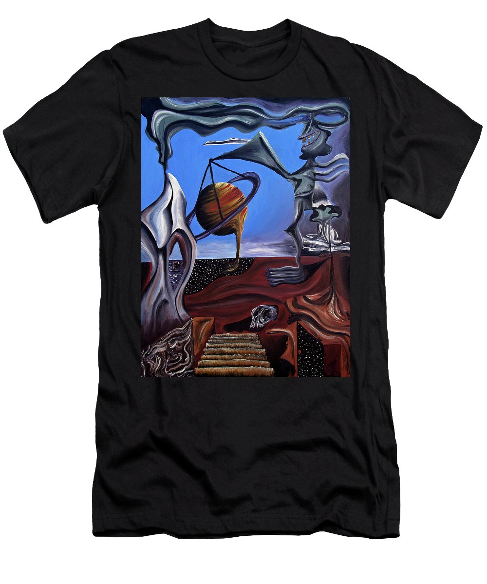 Abstract Men's T-Shirt (Athletic Fit) featuring the painting Infatuasilaphrene by Ryan Demaree