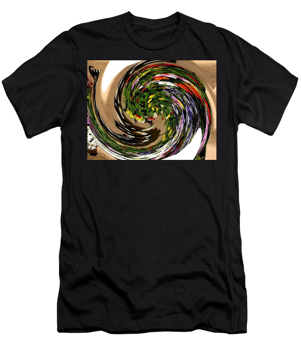 Modern Art Men's T-Shirt (Athletic Fit) featuring the photograph Infinity Flower Spiral 1 by Cj Carroll