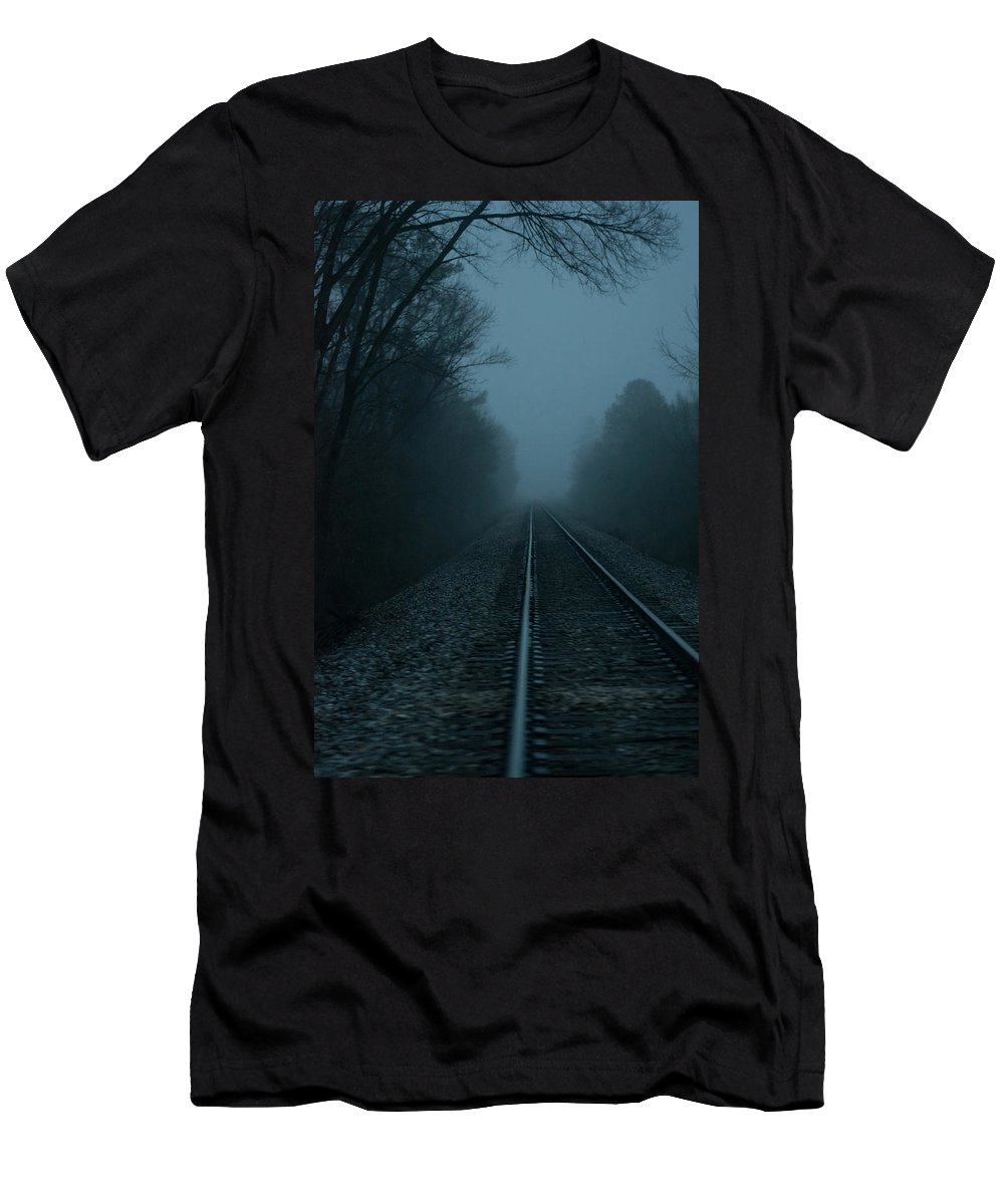 Train Men's T-Shirt (Athletic Fit) featuring the photograph Infinity by Parker Cunningham