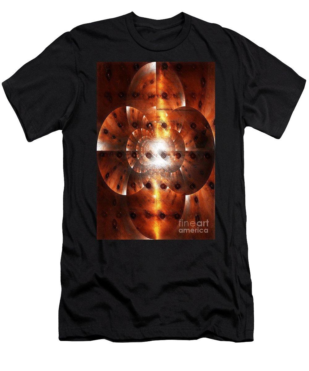 Digital Art Men's T-Shirt (Athletic Fit) featuring the digital art Inner Strength - Abstract Art by Carol Groenen