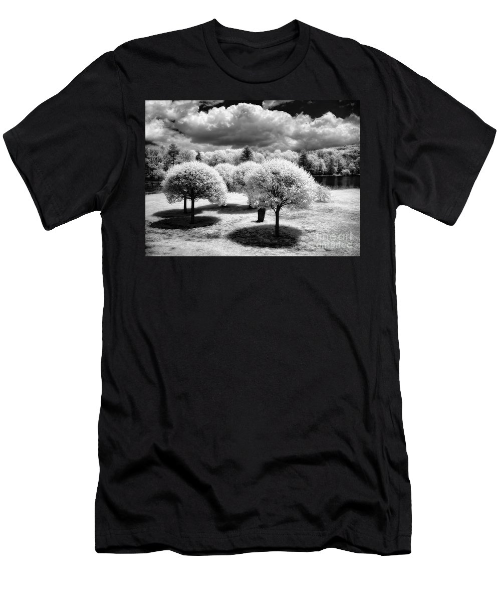 Ir Men's T-Shirt (Athletic Fit) featuring the photograph Innisfree Garden by Claudia Kuhn