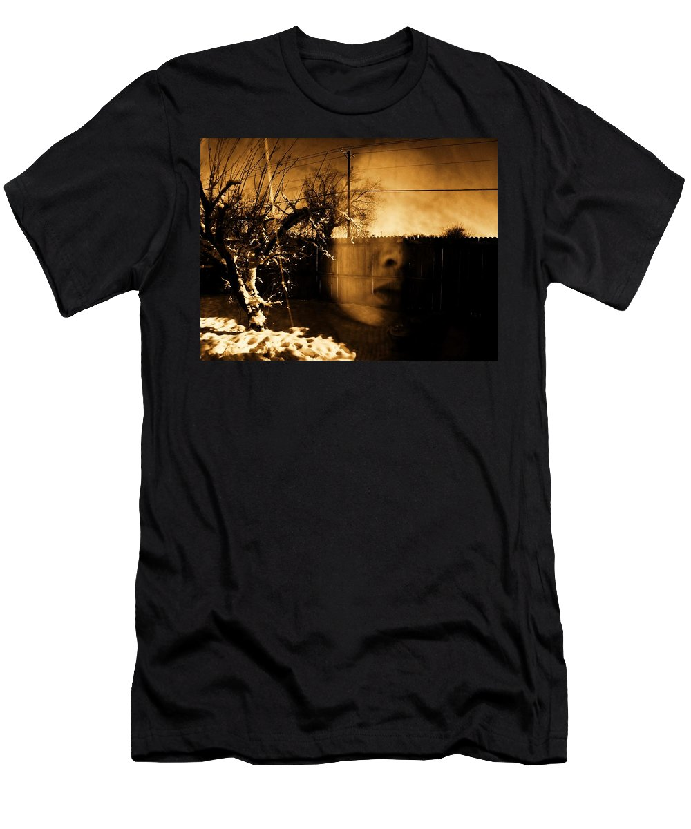Sepia Men's T-Shirt (Athletic Fit) featuring the photograph Innocents Reflection by Jessica Shelton