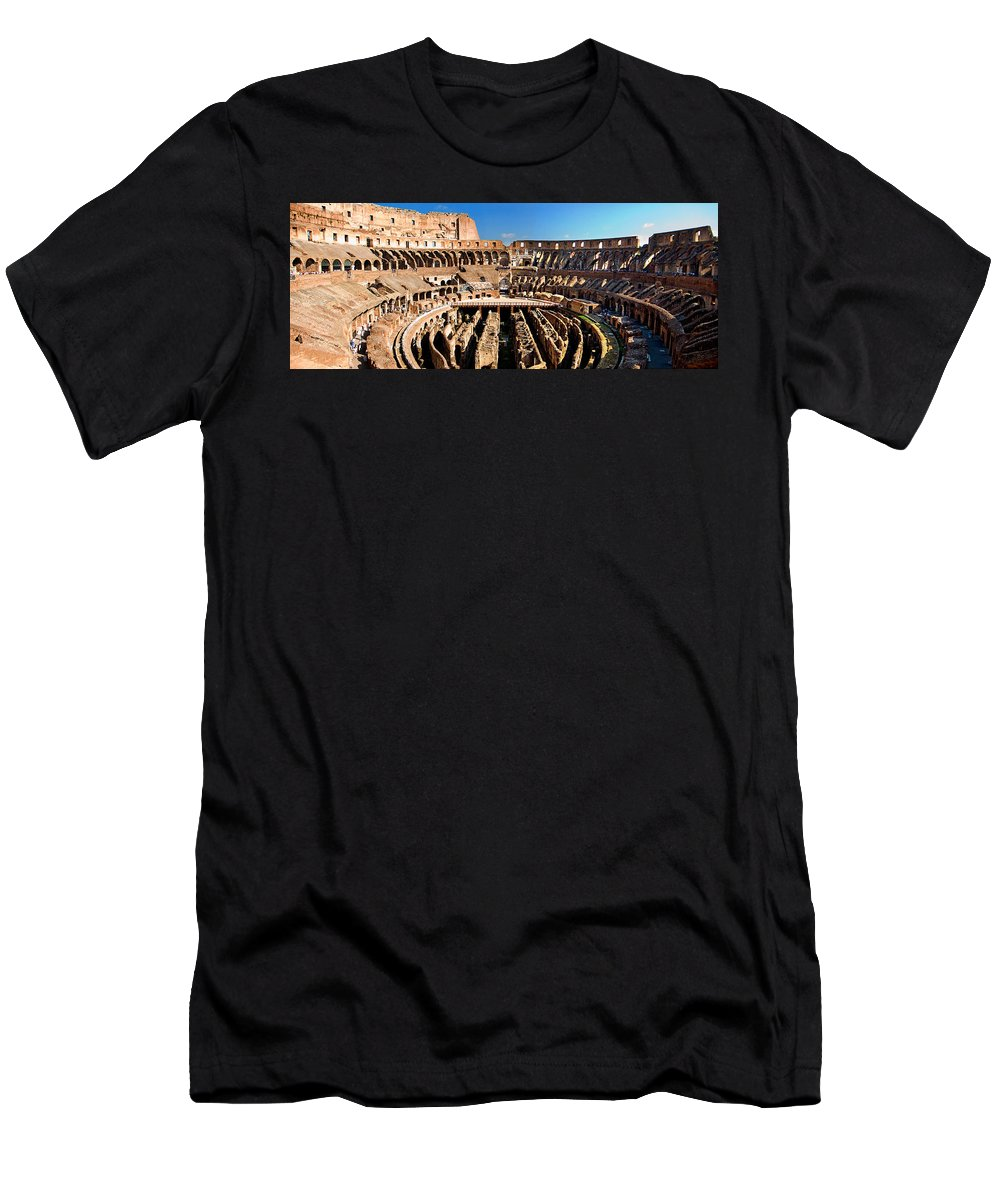 Colosseum Men's T-Shirt (Athletic Fit) featuring the photograph Inside The Colosseum by Weston Westmoreland