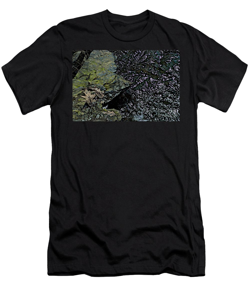 Creek Men's T-Shirt (Athletic Fit) featuring the photograph Interlude by Joseph Yarbrough
