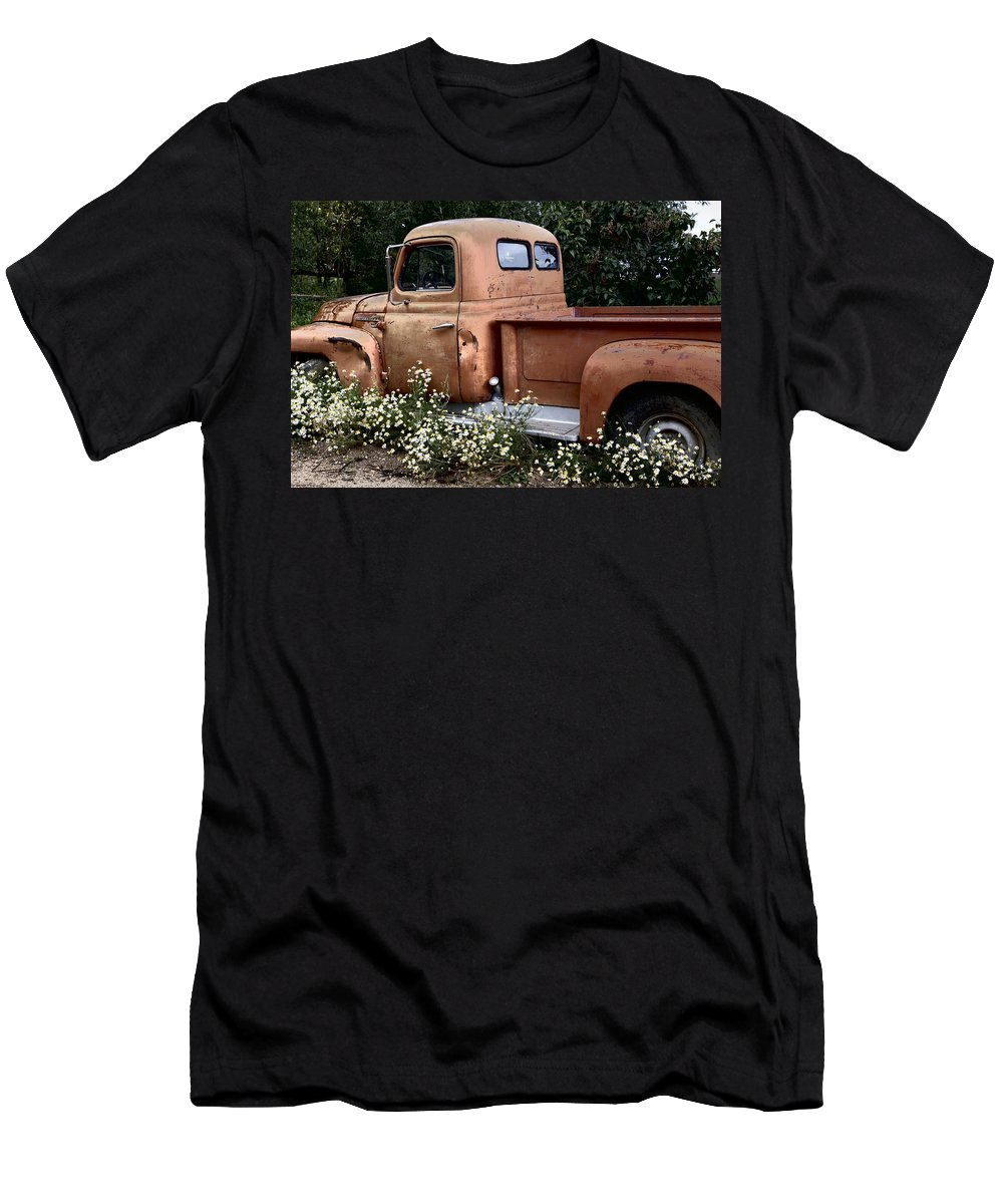 International Men's T-Shirt (Athletic Fit) featuring the photograph International L-110 In Flowers by Lynn Sprowl