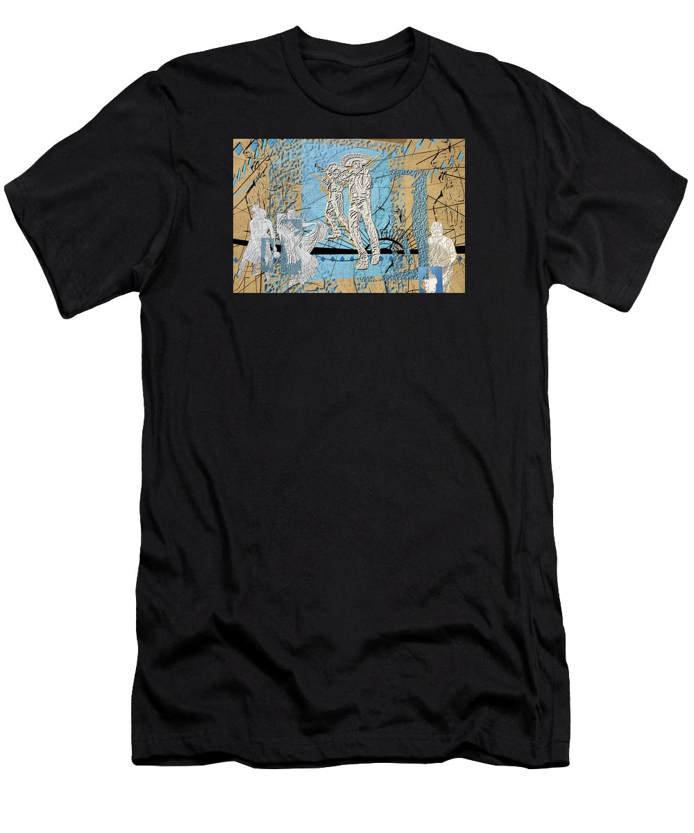 Interstate 10 Men's T-Shirt (Athletic Fit) featuring the digital art Interstate 10- Exit 254- Prince Rd Overpass- Rectangle Remix by Arthur BRADford Klemmer