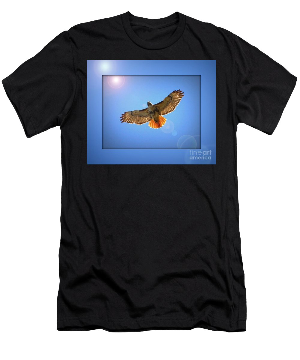Digital Art Men's T-Shirt (Athletic Fit) featuring the photograph Into The Light by Carol Groenen