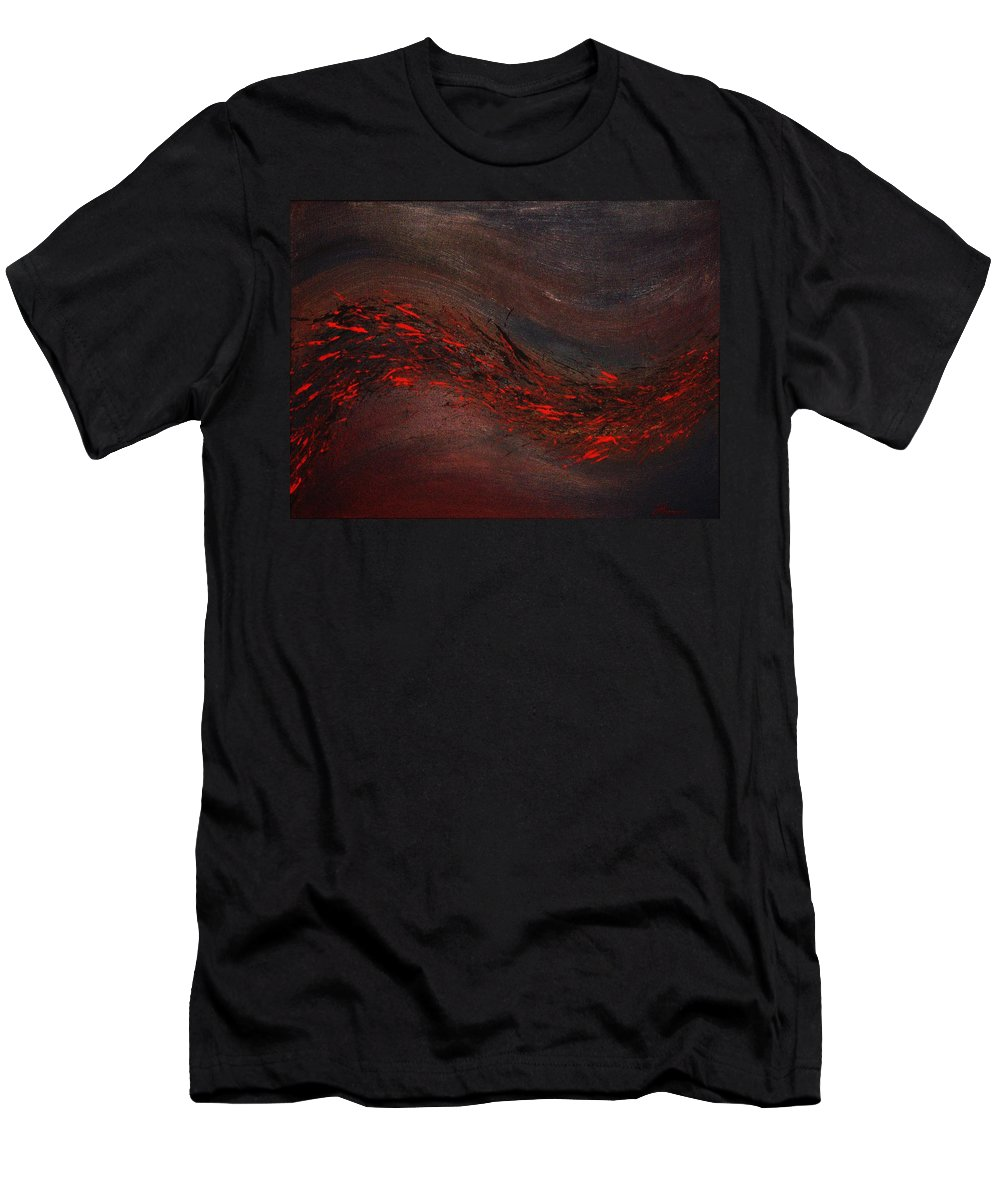 Acrylic Men's T-Shirt (Athletic Fit) featuring the painting Into The Night by Todd Hoover