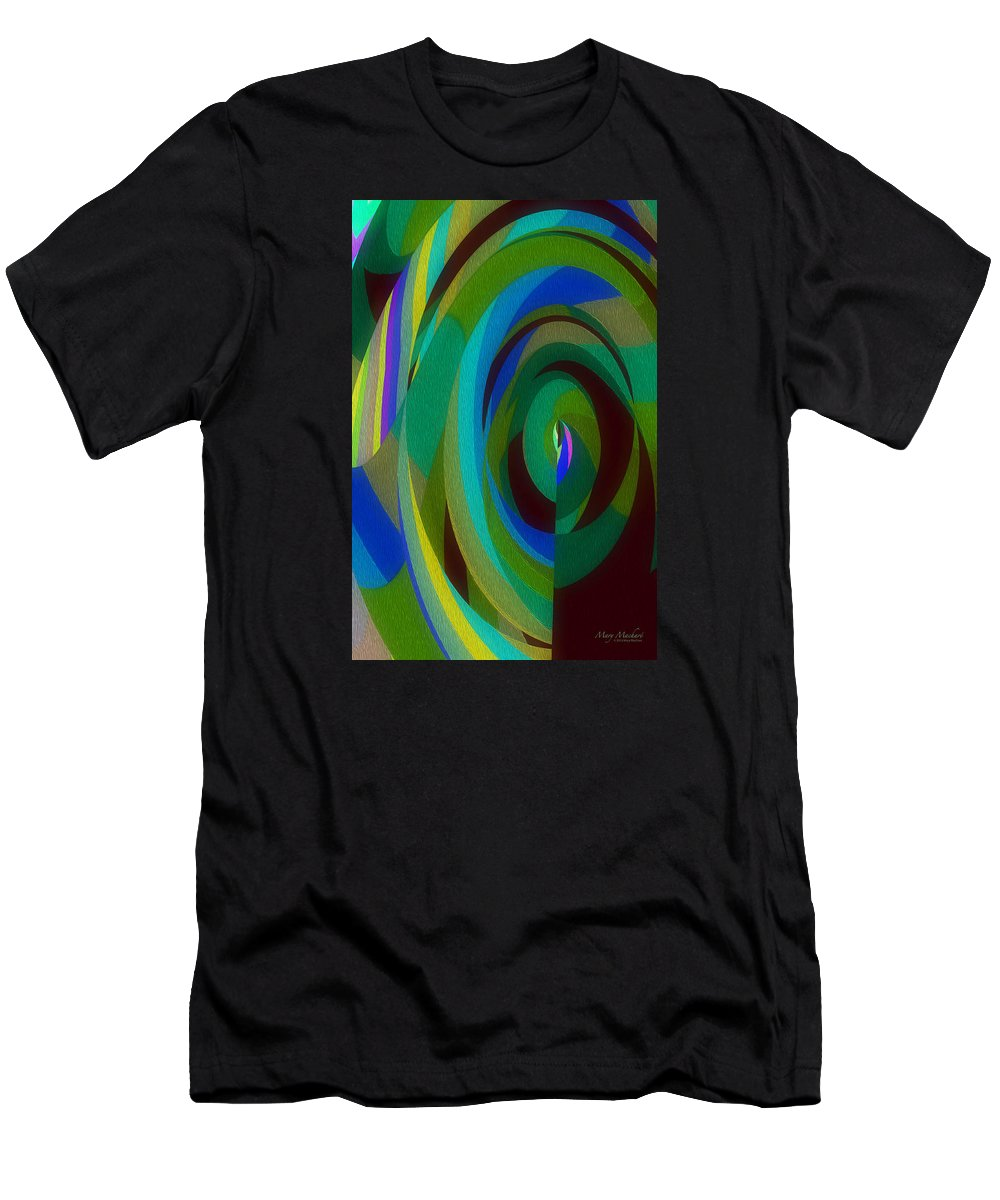 Into The Void Men's T-Shirt (Athletic Fit) featuring the digital art Into The Void by Mary Machare